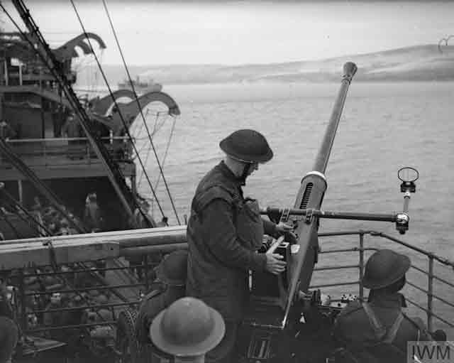 British exercise aboard HMS Winchester Castle, 4 December 1941 worldwartwo.filminspector.com