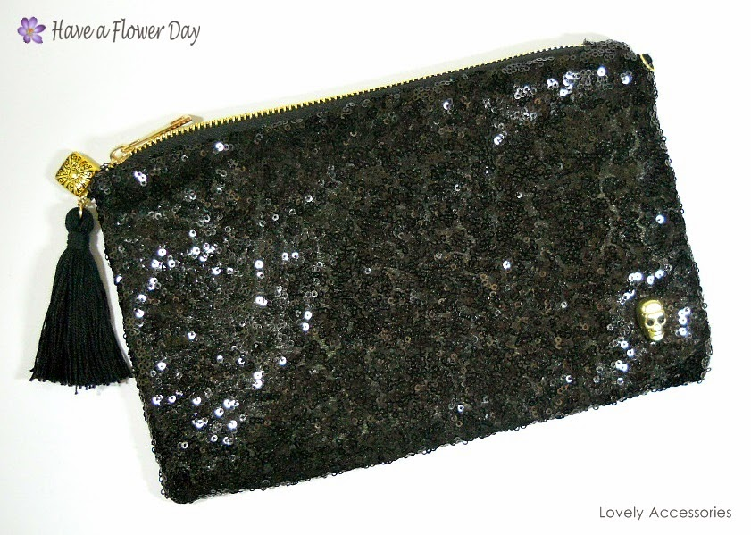 Cartera Lentejuelas Negro · Black Sequin Clutch