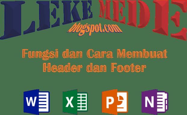Cara Membuat Header dan Footer Pada Ms Word