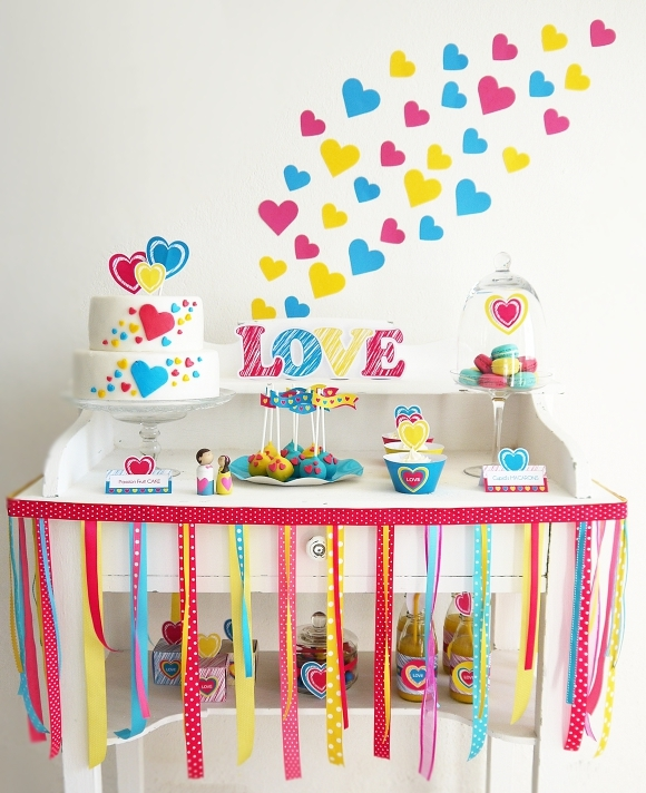 Une Sweet Table Moderne Pour La Saint-Valentin | BirdsParty.fr