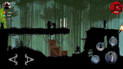 لعبة Ninja Arashi مهكرة للأندرويد، لعبة Ninja Arashi كاملة للأندرويد