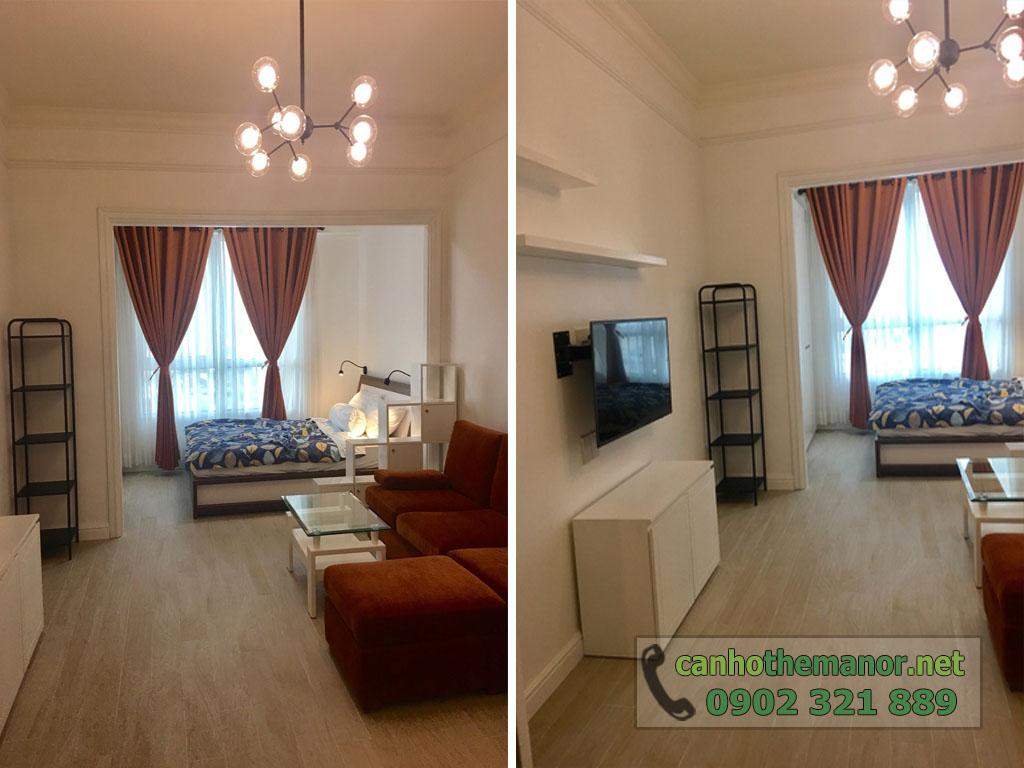 Cho thuê The Manor căn hộ 1PN block G tầng trung giá chỉ $650