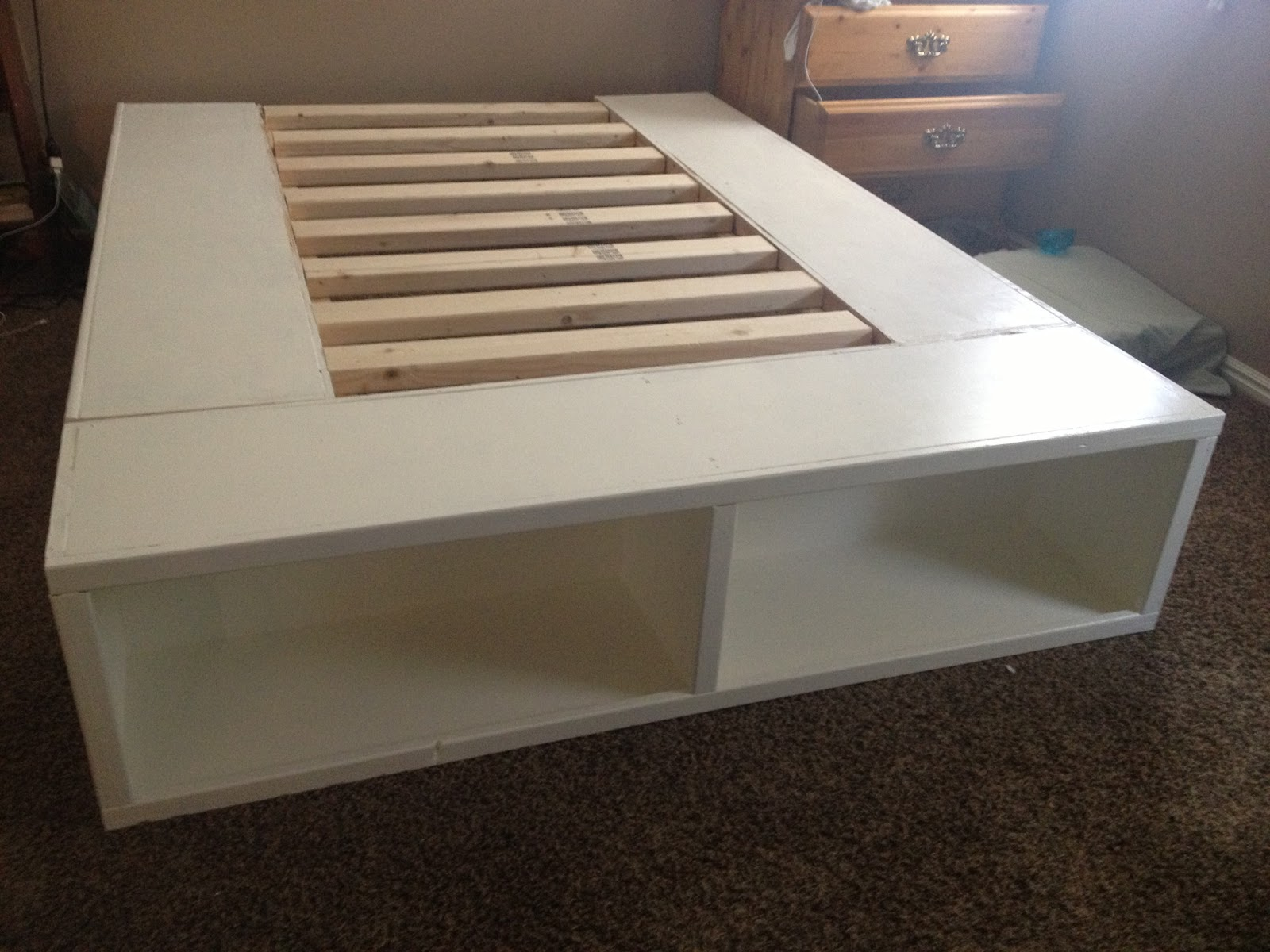 Diy Platform Bed Base Diy Storage Bed