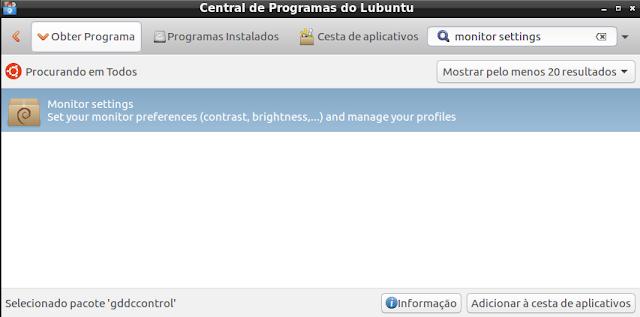 Diminuir brilho do monitor - Lubuntu