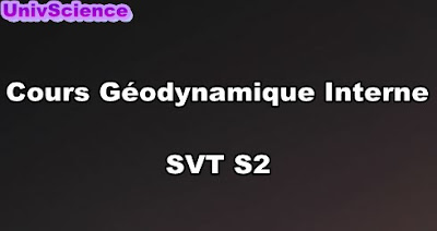 Cours Géodynamique Interne  SVT S2 PDF