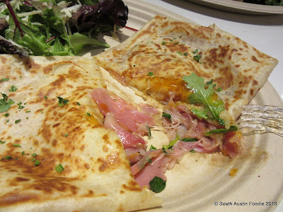 Crepe Crazy prosciutto and fig jam crepe