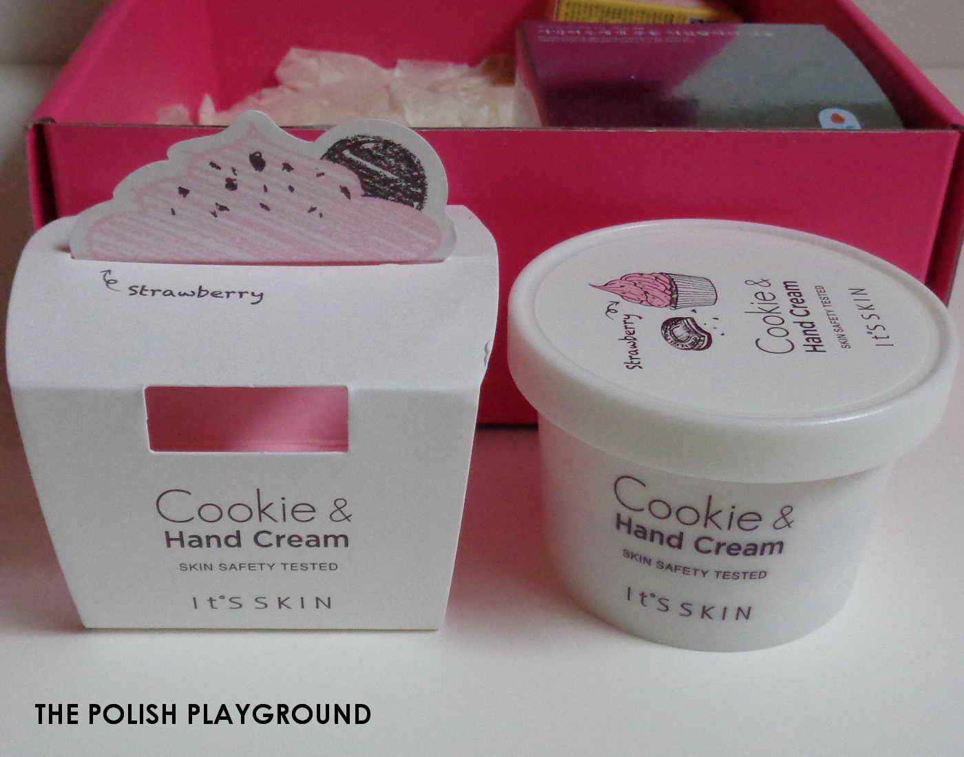 Memebox Special #47 My Dessert Box Unboxing - It's Skin Cookie & Hand Cream in Strawberry