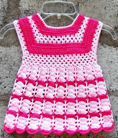 Crochet Toddler Size Girl Dress – Free Pattern