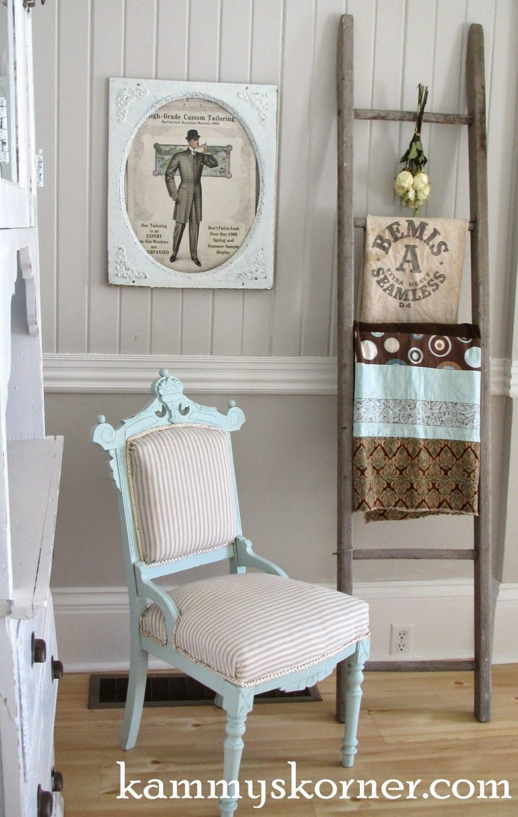 Kammy S Korner Rustic Ladder Vignette Family Room