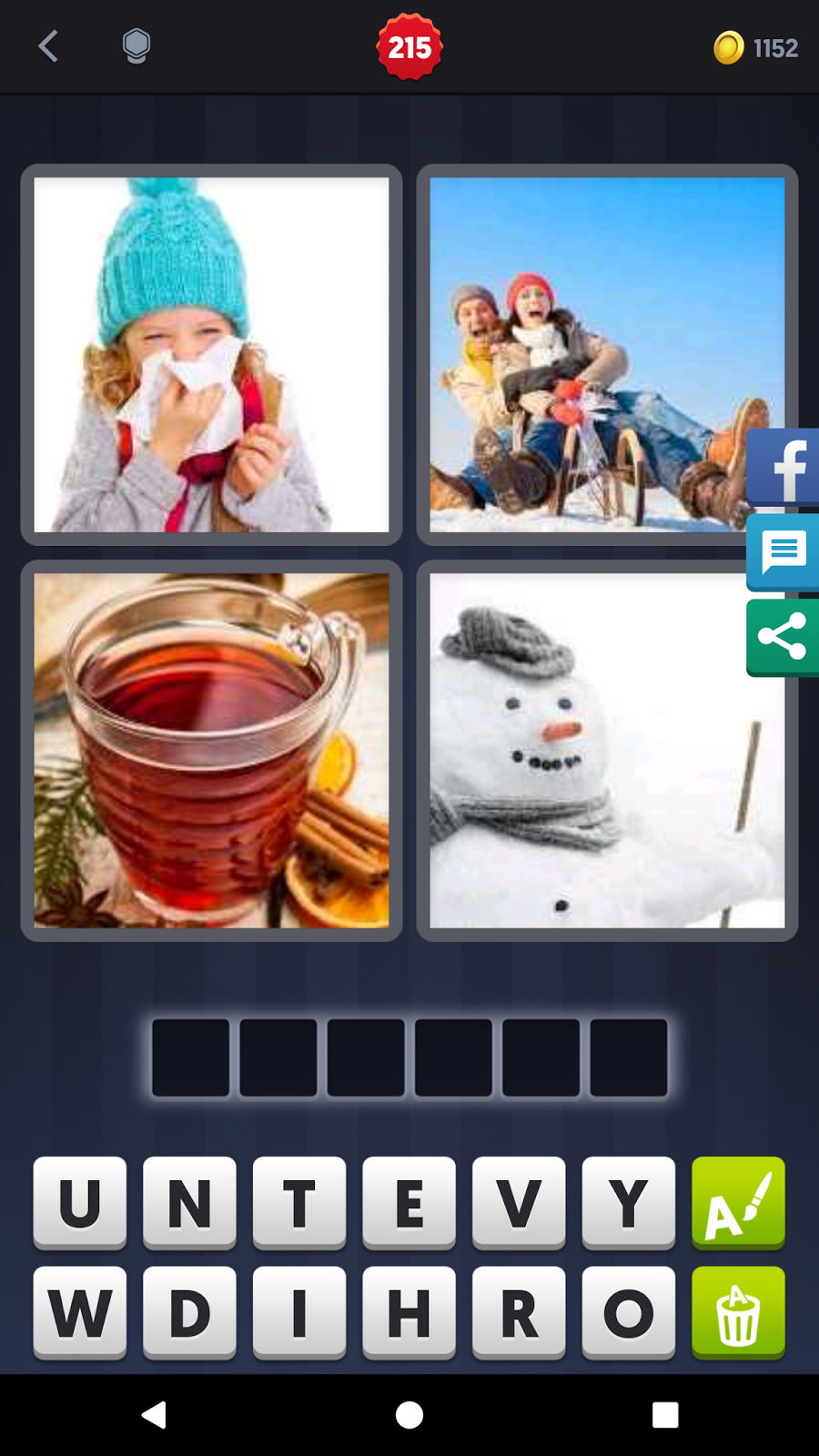 4 Pics 1 Word Answers Solutions Level 215 Winter