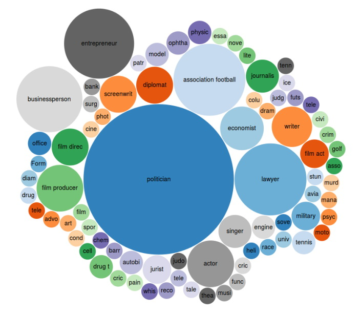 Visualisation of Occupations from Panama Papers