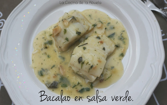 Bacalao salsa verde receta pescado