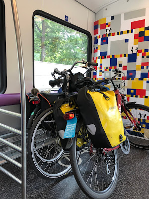 Bikes on a national train. These should have the panniers removed. If not, you could be fined.