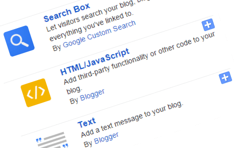 Select HTML/JavaScript module for blogger content writer