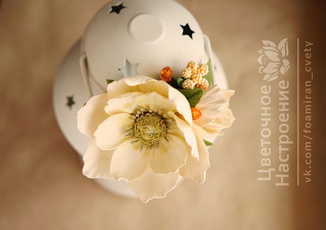 цветы  из фоамирана в прическу