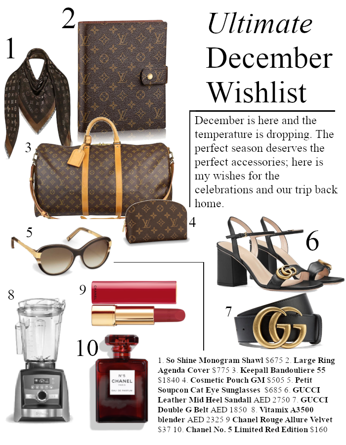 10 Things I Want | December 2018 Wishlist www.ourdubailife.com