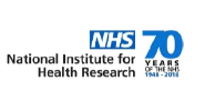 Image of NIHR Logo and 70 years of the NHS