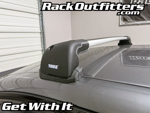 BMW M3 4 Door Thule SILVER AeroBlade EDGE Roof Rack 12 15