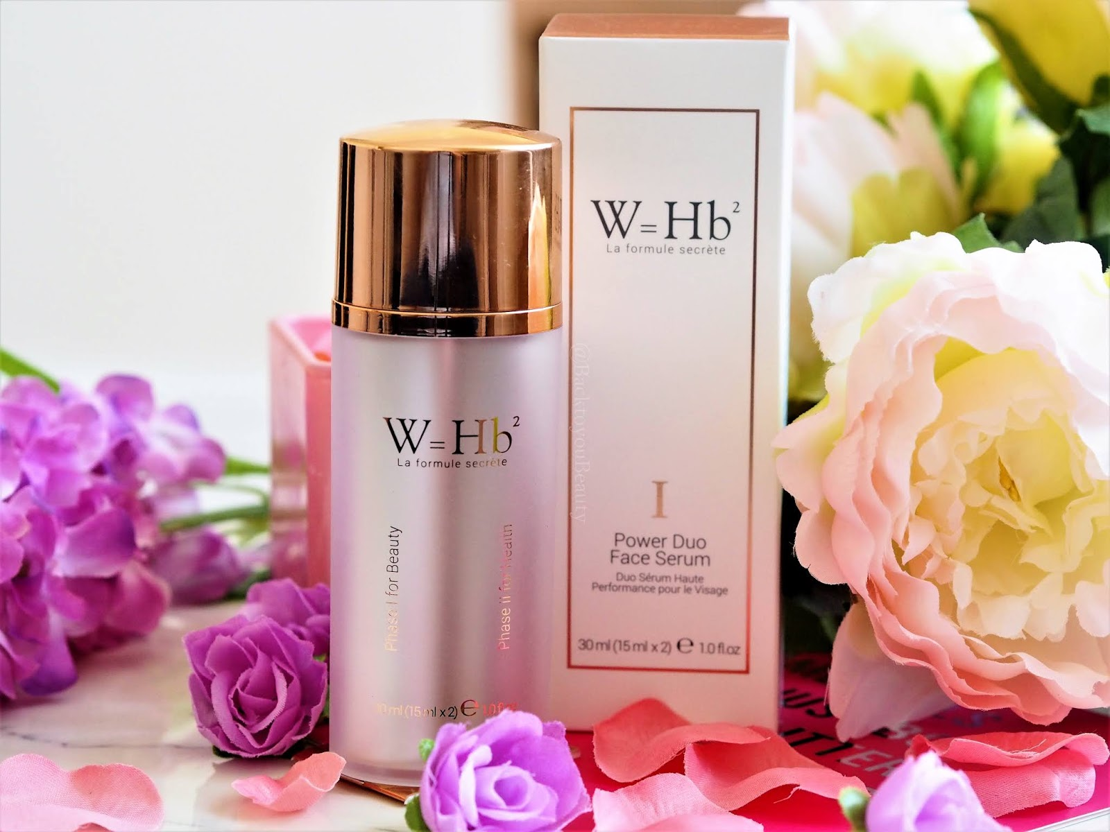 W=Hb2 Power Duo Face Serum.