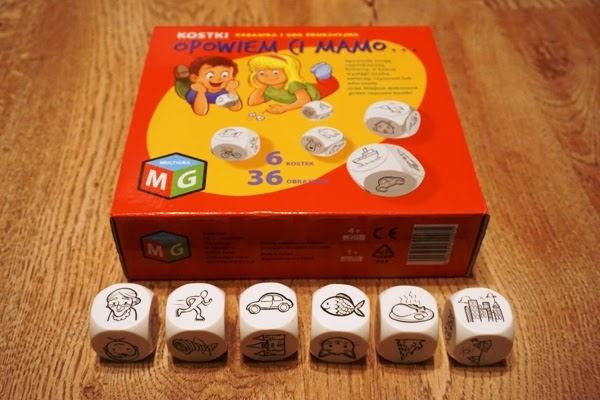 opowiem Ci mamo, story cubes, gra dla trzylatków