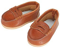 Sophia's Brown Leather Penny Loafers