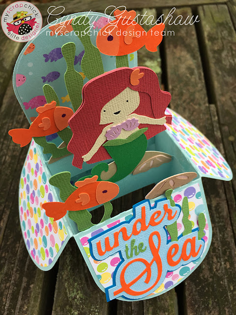 Mermaid box card
