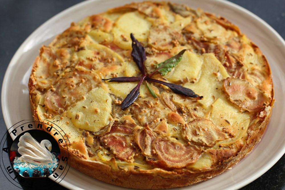 Gâteau invisible betterave pommes de terre