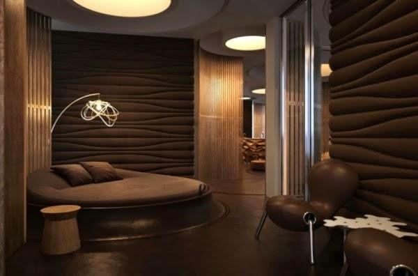 Diseño dormitorio chocolate