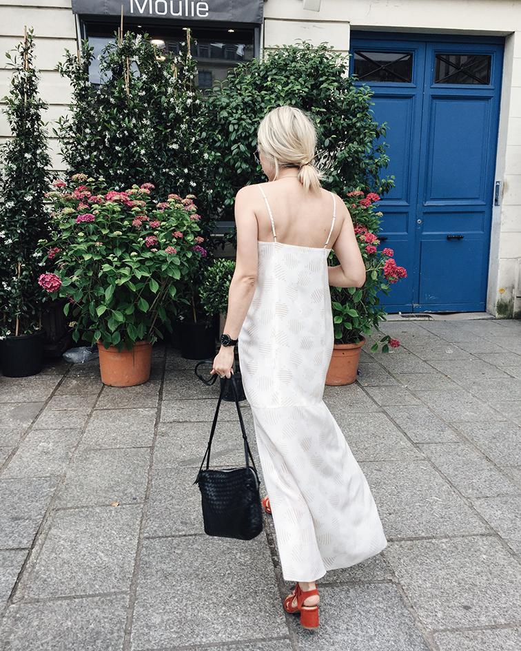 Cienne New York Frankie Dress, Marais USA Jardin Heels, Helene Heath in Paris