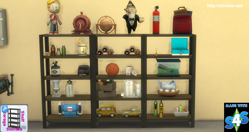Storage Shelf Simista A Little Sims 4 Blog