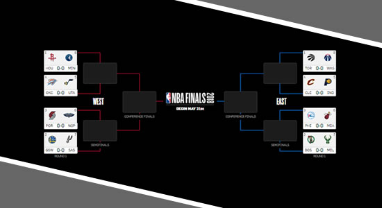 List of Qualified teams 1st Round 2018 NBA Playoffs