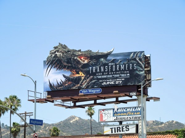 Grimlock Transformers Age of Extinction extension billboard