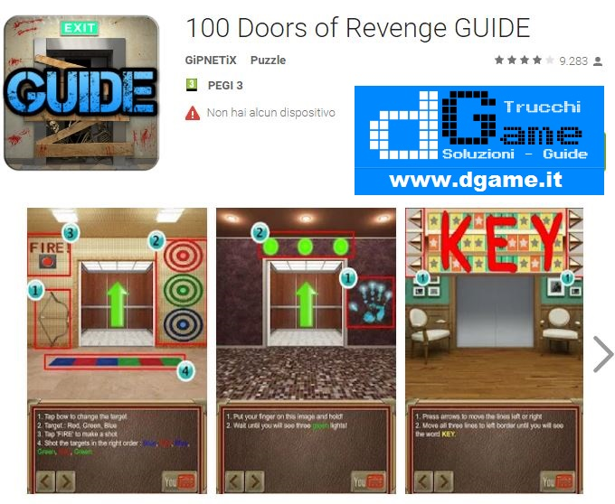 Soluzioni 100 Doors Of Revenge livello 11 12 13 14 15 16 17 18 19 20 | Trucchi e Walkthrough level