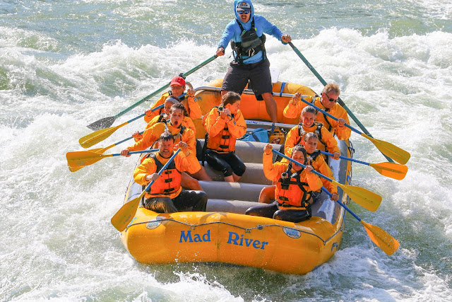 Rafting Down Snake River