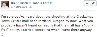 John Lott's Website: Another shooting in a gun-free zone