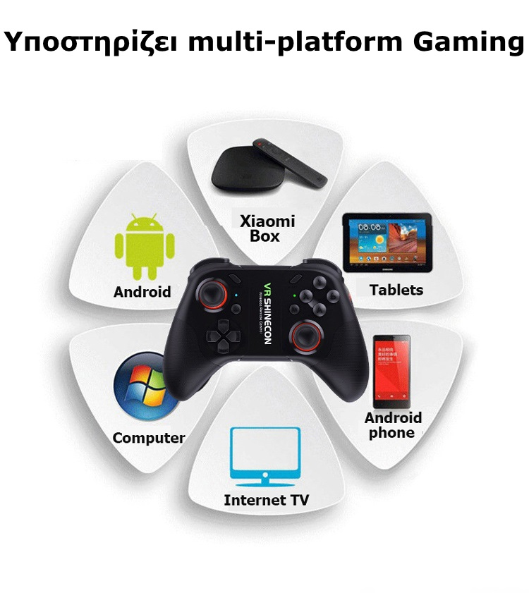 Shinecon SC07 Bluetooth Gamepad(Android,iOS,MAC,PC)