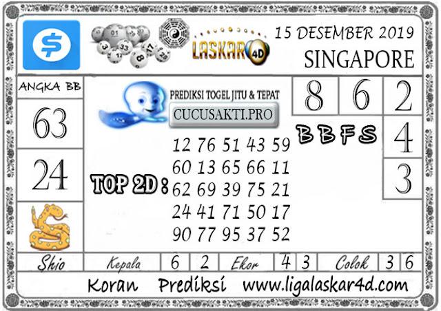 Prediksi Togel SINGAPORE LASKAR4D 15 DESEMBER 2019