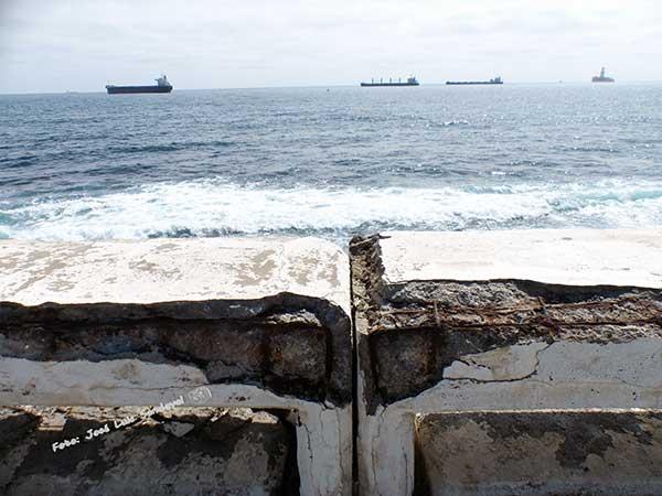 fotos del pésimo estado en el que se encuentra el paseo de la avenida Marítima, Las Palmas de Gran Canaria