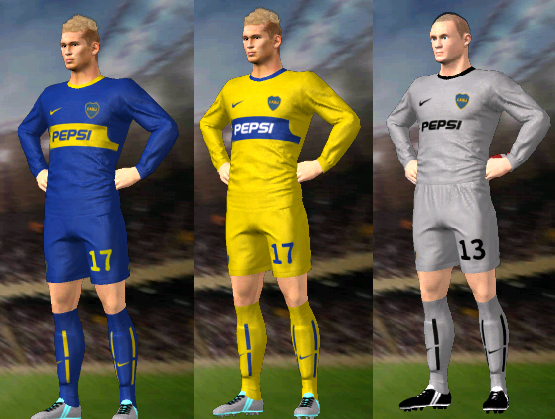 Kits/Uniformes Boca Juniors 2003