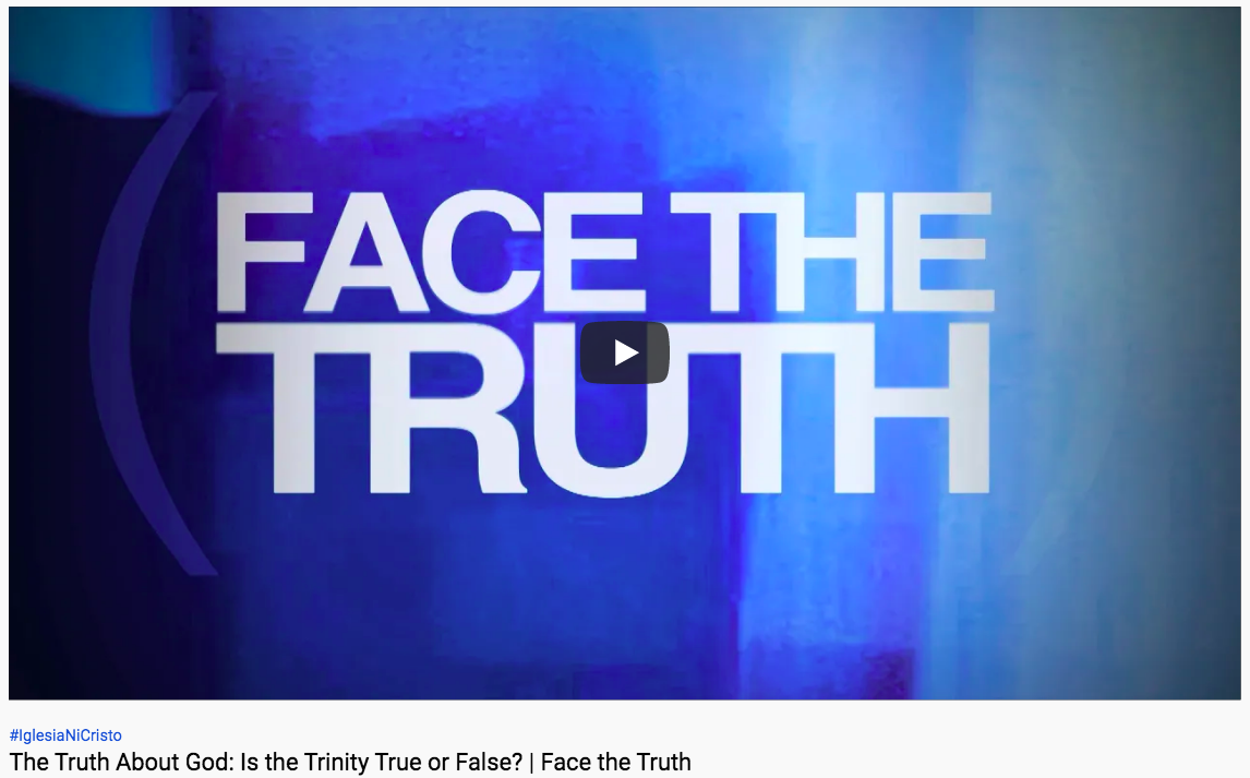 Great video to watch: The Truth About God: Is the Trinity True or False? | Face the Truth