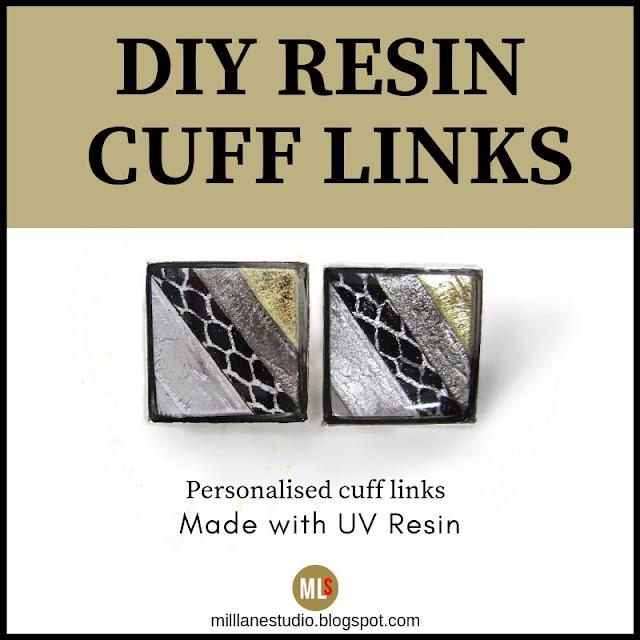 UV Resin Cuff Links title sheet