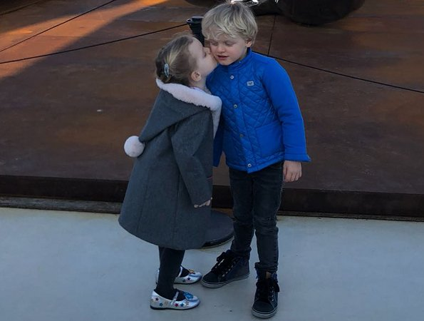 Princess Charlene, Prince Jacques and Princess Gabriella visited the Oceanographic Museum in Monaco