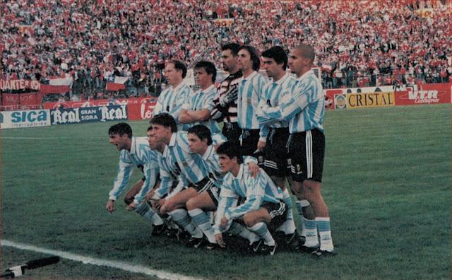 Formación de Argentina ante Chile, Clasificatorias Francia 1998, 10 de septiembre de 1997