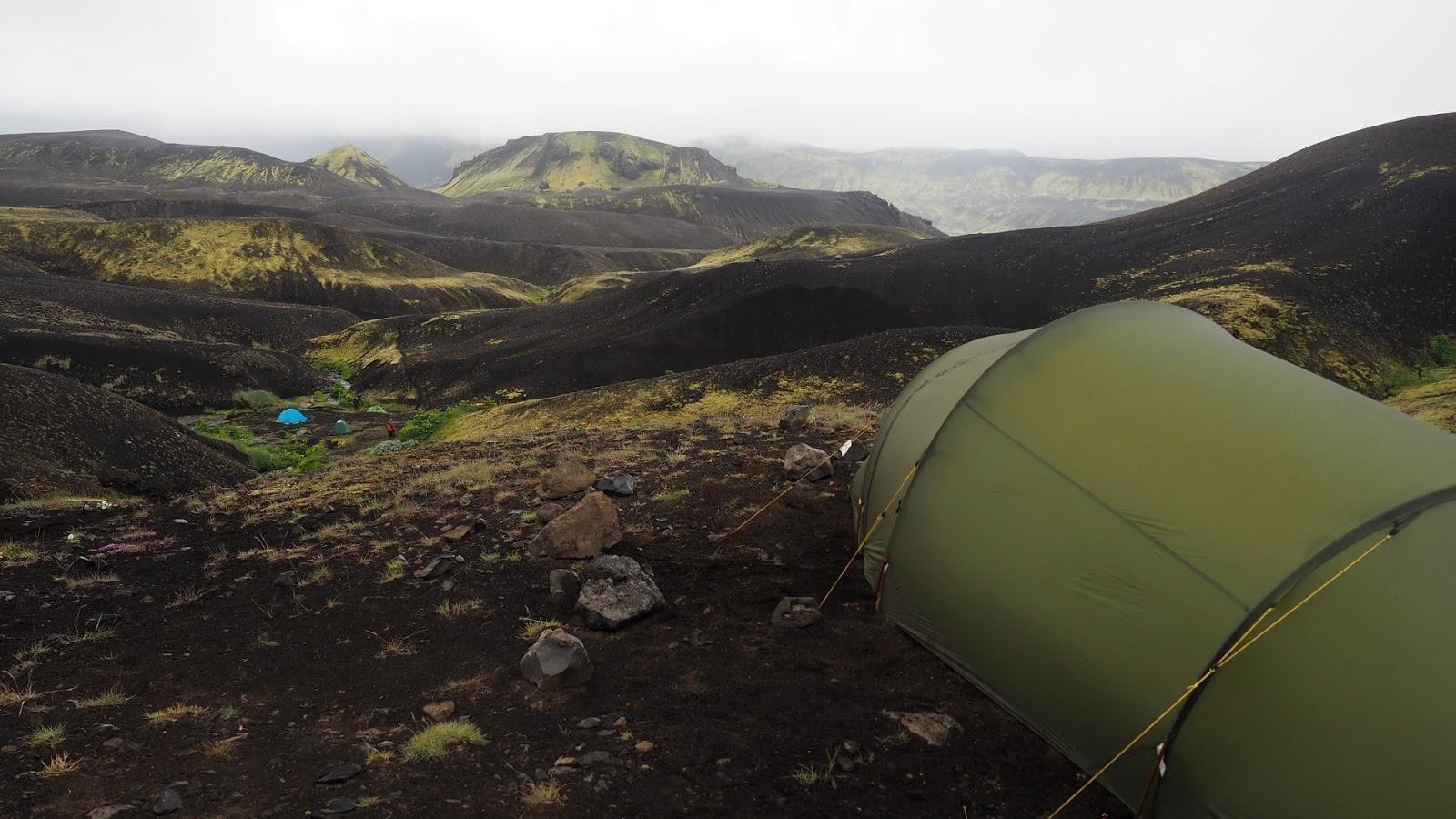 biwak na Islandii, namiot na Islandii, islandzkie góry