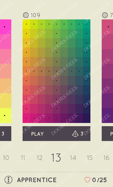 I Love Hue Apprentice Level 13 Solution, Cheats, Walkthrough
