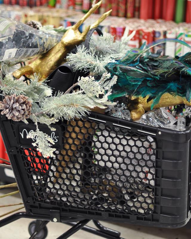 shopping cart full of stuff at michaels