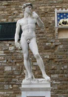 Michelangelo's David  at Piazza del Signoria Florence Italy