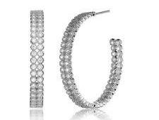 Cubic zirconia hoop earrings large offer 88% off