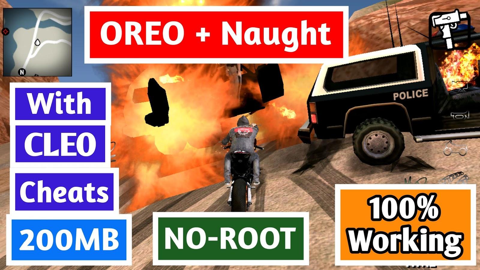200 MB GTA SA Lite Oreo + Naught - Techy Harsh