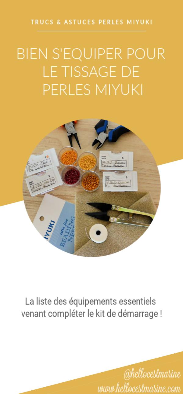 pinces, boites de rangement, aiguilles, fil, ciseaux de précision, pour le tissage peyote, brickstitch, loom, en perles miyuki pinterest